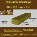 * Palette de 40 Chevrons 80x110 Douglas Naturel Brut 3M