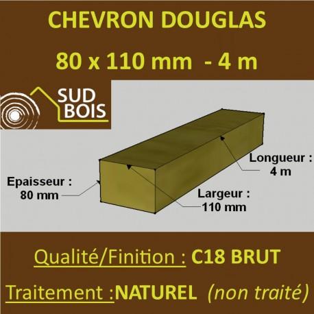 *Palette de 40 Chevrons 80x110 Douglas Naturel Brut 4M