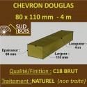 * Palette de 40 Chevrons 80x110 Douglas Naturel Brut 4M