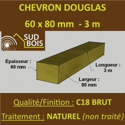 * Palette de 70 Chevrons 60x80 Douglas Naturel Brut 3M