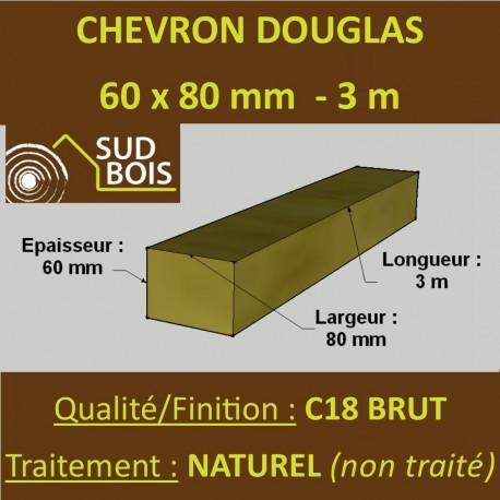 *Palette de 70 Chevrons 60x80 Douglas Naturel Brut 3M