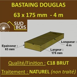 * Palette de 30 Chevrons 63x175 Douglas Naturel Brut 4M