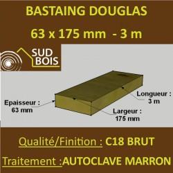 * Palette de 30 Chevrons 63x175 Douglas Autoclave Marron Brut 3M