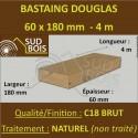 Bastaing / Madrier 60x180 Douglas Naturel Sec Brut Qualité Charpente 4m