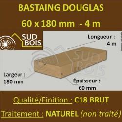 * Palette de 30 Bastaings 60x180 Douglas Naturel Brut 4M