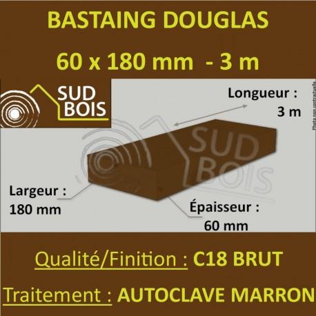 *Palette de 30 Chevrons 60x180 Douglas Autoclave Marron Brut 3M