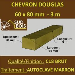 * Palette de 70 Chevrons 60x80 Douglas Autoclave Marron Brut 3M
