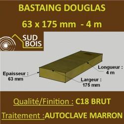 * Palette de 30 Bastaings 63x175 Douglas Autoclave Marron Brut 4M