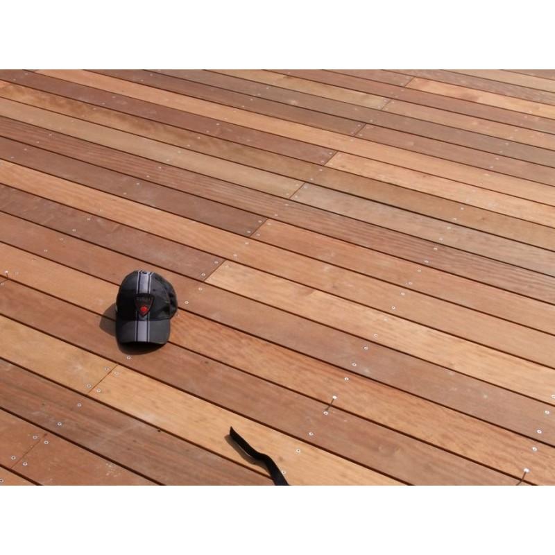 promo lame de terrasse bois exotique itauba lisse 21x145. Black Bedroom Furniture Sets. Home Design Ideas