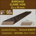 ► Bardage CLAIRE VOIE Douglas 2ème CHOIX 21x70mm Naturel PRIX AU M²