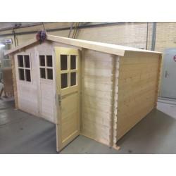 ♦ Chalet Abri de Jardin Bois 12 m² - 3x4 m - 28mm avec Portes + Fenetres