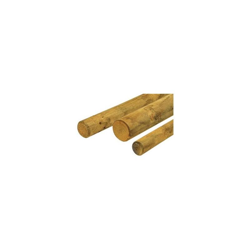 rondin bois frais pin autoclave classe 4 diam tre 80mm. Black Bedroom Furniture Sets. Home Design Ideas