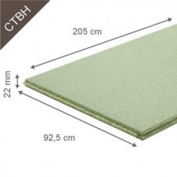 Dalle Agglomérée CTBH P5 Milieu Humide 2500x925mm Ép. 22mm