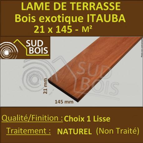 Promo Lame De Terrasse Itauba 21x145 Mm Lisse 1er Choix Prix Au M