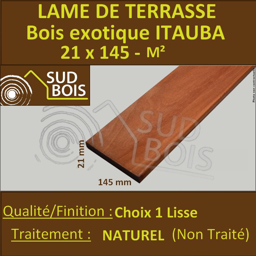 Promo Lame De Terrasse Itauba 21x145 Mm Lisse 1er Choix Prix