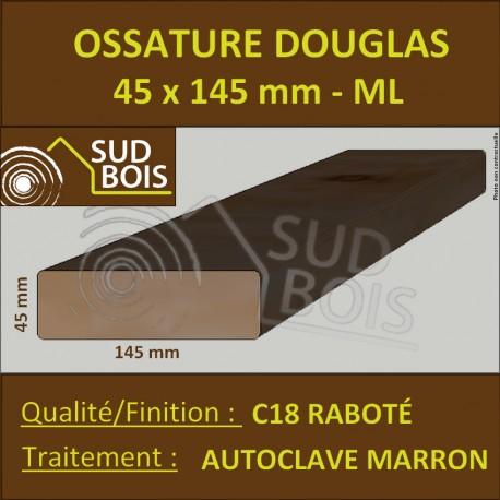 Ossature 45x145 Douglas Autoclave Marron Choix 2 Raboté Prix/ml