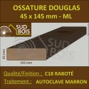 Bois Ossature 45x145 Sec Raboté Douglas Autoclave Marron Prix / ml