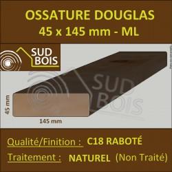 ► * Montant Ossature 45x145 Douglas Naturel Choix 2 Raboté Prix/ml
