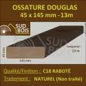 Ossature 45x145 Bois Massif Abouté Douglas Naturel Sec Raboté 13m