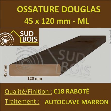 Ossature 45x120 Douglas Autoclave Marron Choix 2 Raboté Prix/ml