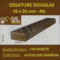 ► Bois Ossature 45x95 Sec Raboté Douglas Autoclave Marron Prix / ml