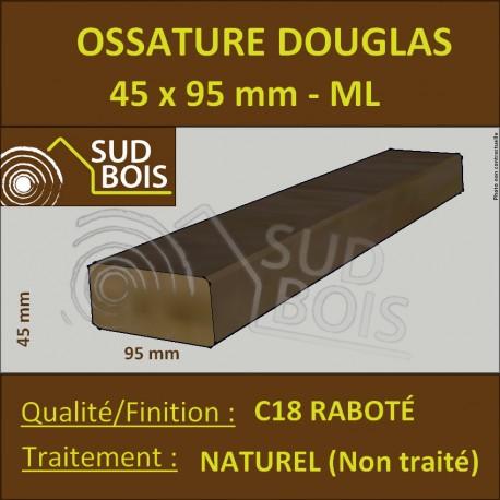 Montant Ossature 45x95 Douglas Naturel Choix 2 Raboté Prix/ml