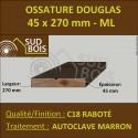 Bois Ossature Sec Raboté Douglas Autoclave Marron 45x270mm au ml