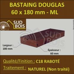 Bastaing 60x180 Bois Massif Abouté Douglas Naturel Raboté Prix/ml