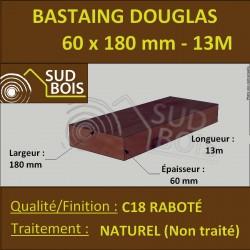 Bastaing 60x180 Bois Massif Abouté Douglas Naturel Sec Raboté 13m