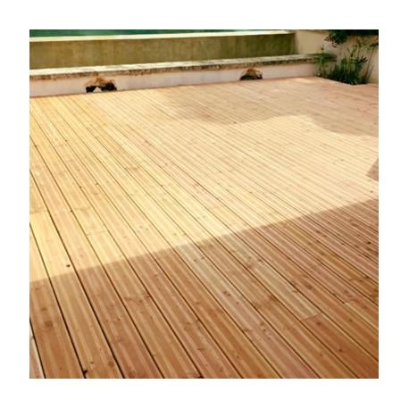 *Lame Terrasse Bois 27x145 Douglas Naturel Striée Choix 2 Prix / m²