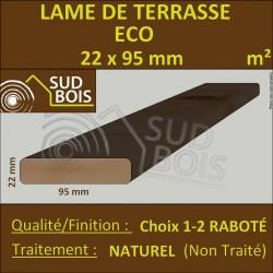 Lame Terrasse ECO 22x95 Douglas Naturel Lisse Choix 1-2 PRIX/M²