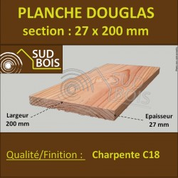 Planche 27x200 Douglas