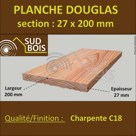 Planche Bois Douglas 27x200 Mm