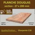 Planche 27x200mm Bois Douglas Choix 2-3-4 Qualité Coffrage