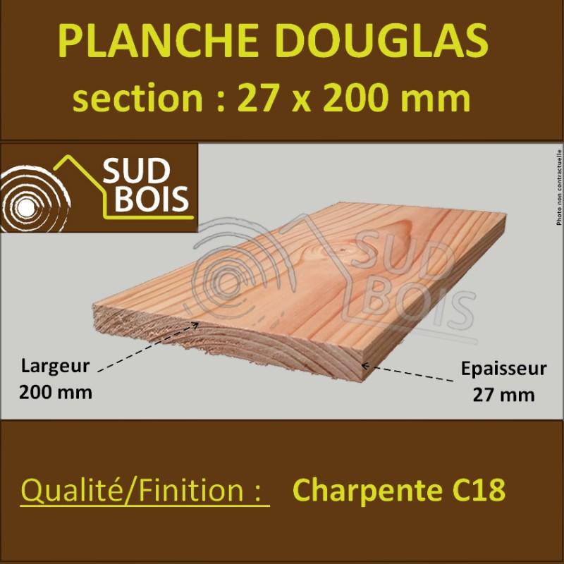 planche 27x200 douglas sud bois terrasse bois discount lame de bardage douglas plancher. Black Bedroom Furniture Sets. Home Design Ideas