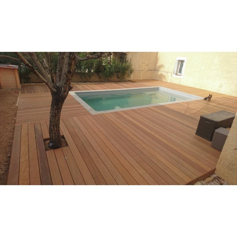 Promo Lame De Terrasse Bois Exotique Itauba Lisse 21x145 En 1 55m