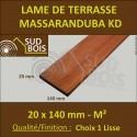 Lame de Terrasse Massaranduba KD 20x140 mm Lisse Prix au m²