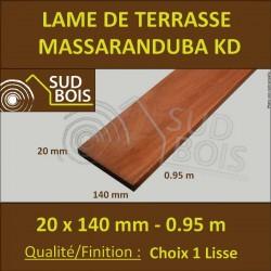♦ Lame Terrasse Massaranduba KD 20x140 Lisse 2 Faces 20x140 0.95m