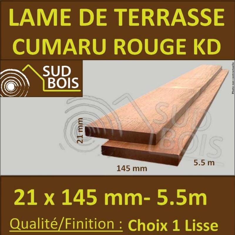 Lame De Terrasse En Cumaru Qualite Kd 21x145 Lisse 2 Faces En 5 50m