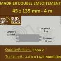 Madrier Chalet Double Emboîtement 45x135 Douglas Autoclave Marron 2nd Choix 4m