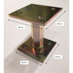 Pied de poteau réglable hauteur H110/180 universel galvanisé B9X9