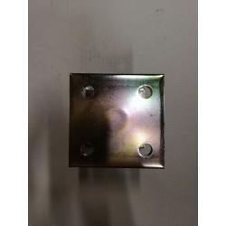 Pied de poteau réglable hauteur H110/180mm universel galvanisé