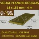 Planche / Volige 18x155 (18x150) Douglas Brut Naturel 4m