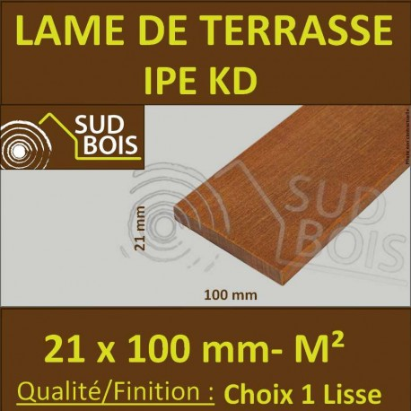 Lame De Terrasse Bois Exotique Ipe Kd Lisse 2 Faces 21x100 Prix M Sud Bois Terrasse Bois Direct Scierie