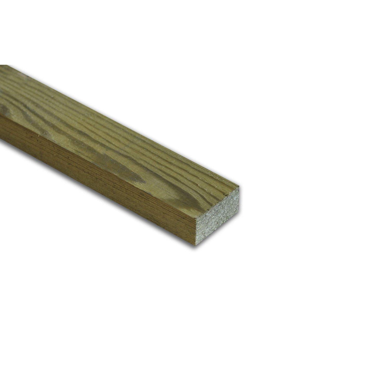Tasseau Bois Exotique Exterieur ♦ tasseau sapin/Épicéa 22x60mm raboté 3m traité autoclave marron - sud bois  : terrasse, bois direct scierie