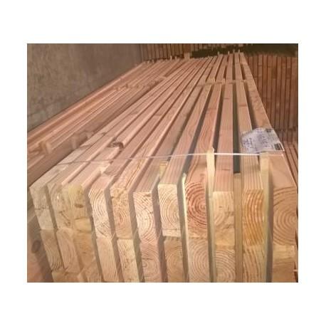 * Lot de 105 Bois d'Ossature 45x145 Douglas Sec Choix 2 Naturel 3m