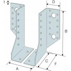Sabot de Solive / Charpente à Ailes Extérieures 2 éléments 60x160