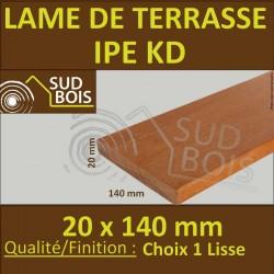 Lame de Terrasse Bois Exotique IPE AD Lisse 2 Faces 20x140 Prix / m²