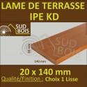 ► Lame de Terrasse Bois Exotique IPE Lisse 2 Faces 20x140 Prix / m²