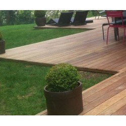 ☺ Pack de 1.34 m² soit 5 Lames de Terrasse Cumaru KD 1er Choix 21x145 Lisse en 1m85 - Livraison Gratuite